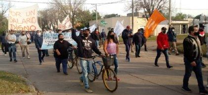 Paro y marcha de trabajadores de Algodonera de Vicentin en Reconquista