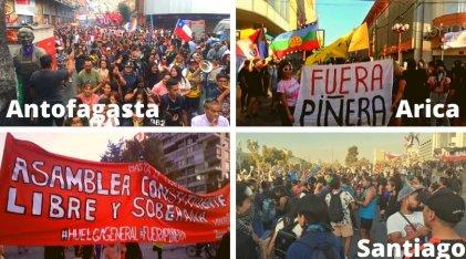 Chile arrancó marzo con movilizaciones en todo el país