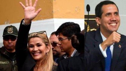 """Entre golpistas se entienden: la """"interina"""" Jeanine Áñez de Bolivia agradece el apoyo de Juan Guaidó"""