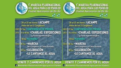 Día Mundial del Agua: marcharán a Plaza de Mayo contra el avance del extractivismo