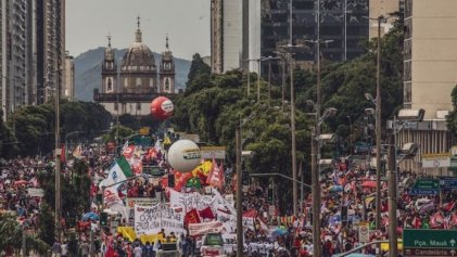 Las manifestaciones de repudio contra Bolsonaro se sintieron en todo Brasil