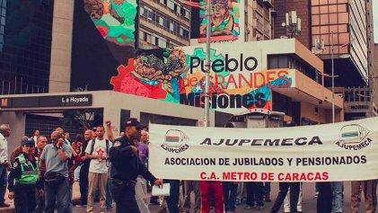 GALERÍA DE FOTOS: Lucha de trabajadores del Metro de Caracas