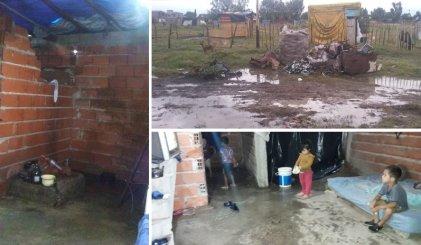 Los Ceibos y Castillo: otra vez pierden todo por la lluvia y la falta de respuesta estatal