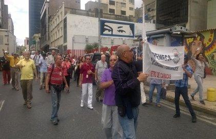 (FOTOS) Jornada de lucha de los trabajadores del Metro de Caracas
