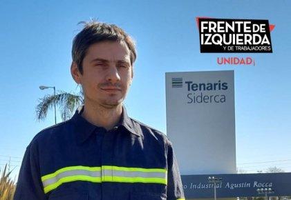 Campana: el Frente de Izquierda lanzó la candidatura de Emiliano Cuevas, trabajador de Siderca