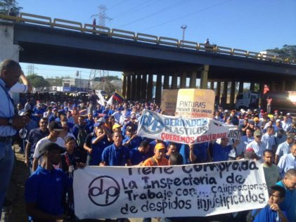 Brutal represión a marcha obrera en Venezuela