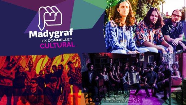 Artistas en la Jornada por el dia de la mujer en Madygraf